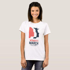 Women's March Slo - White National Graphic T-shirt at Zazzle