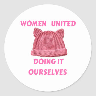 WOMEN'S MARCH UNTIED DOING IT OURSELVES CLASSIC ROUND STICKER