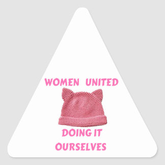 WOMEN'S MARCH UNTIED DOING IT OURSELVES TRIANGLE STICKER