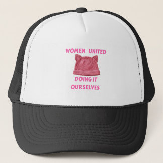 WOMEN'S MARCH UNTIED DOING IT OURSELVES TRUCKER HAT