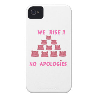 WOMEN'S MARCH WE RISE  NO APOLOGIES iPhone 4 CASE
