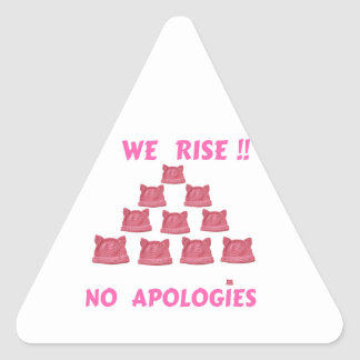 WOMEN'S MARCH WE RISE  NO APOLOGIES TRIANGLE STICKER