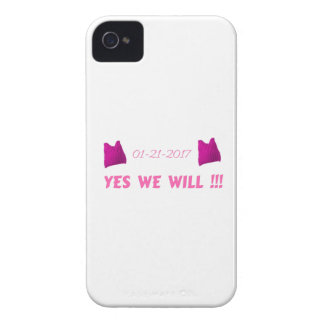 WOMEN'S MARCH  YES WE WILL iPhone 4 COVER