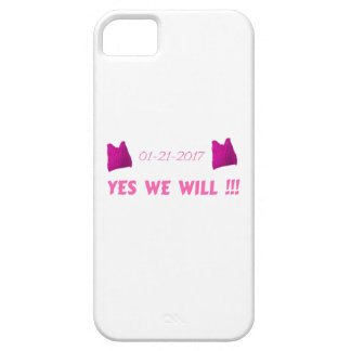 WOMEN'S MARCH  YES WE WILL iPhone SE/5/5s CASE