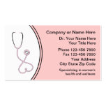 Women's Medical Business Cards
