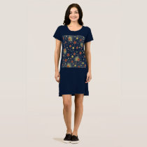 Women's Midnight Blue T-Shirt Dress