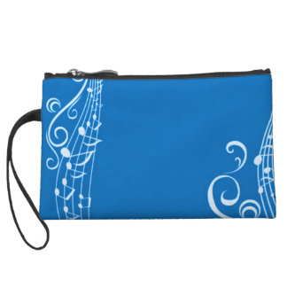 Women's Music Blues Wristlet