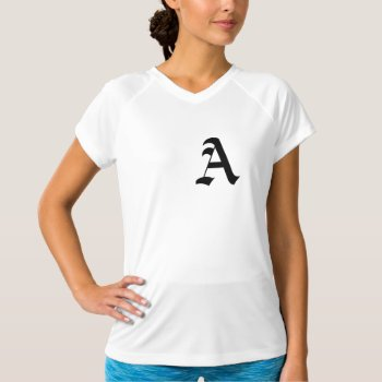 Women's New Balance T-shirt--initial T-shirt by creativeconceptss at Zazzle