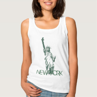 Women's New York Tank Top Statue of Liberty Top