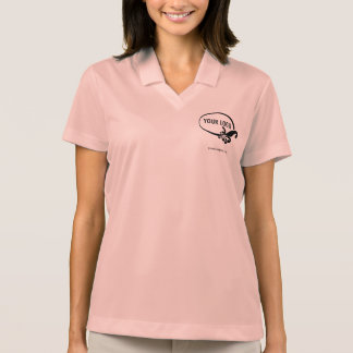 Women's Nike Dri-FIT Custom Logo Pink Polo Shirt