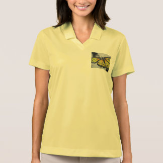 WOMEN'S NIKE DRY-FIT PIQUE POLO T-SHIRT -BUTTERFLY