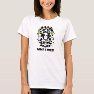 Women's-Nine Lives(white) T-Shirt