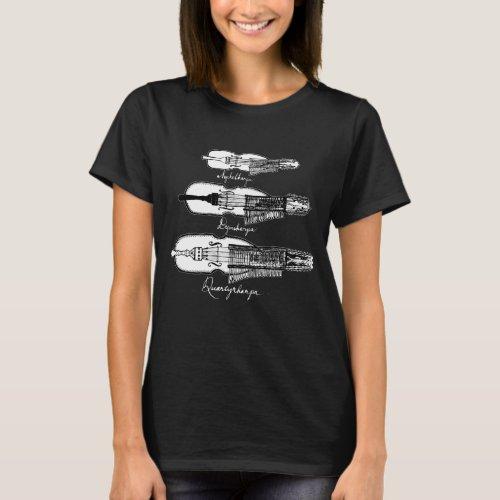 Womens Nyckelharpa dark T_shirt
