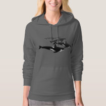Women's Orca Hoodie Killer Whale Lady's Sweatshirt
