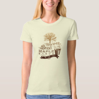 Women's Organic Sweet & Sticky Maple Syrup Tee