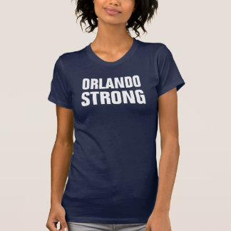 Womens Orlando Strong Rainbow Letters T-Shirt