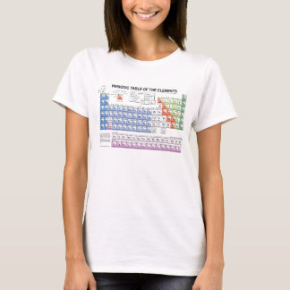 women's periodic table t-shirt
