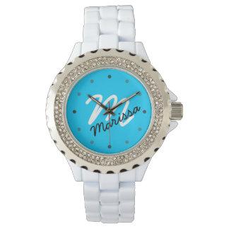 Women's Personalized Monogram Sporty Watch