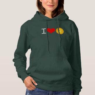 "Women's Pickleball Hoodie ""I Love Pickleball"""