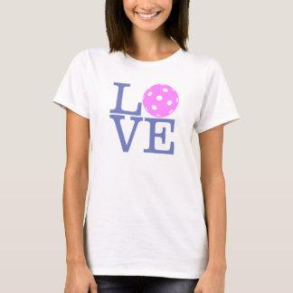 """Women's Pickleball T-shirt: """"LOVE"""" (Pink) T-Shirt"""