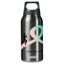 Women's Pink and Teal Marathon Runner Insulated Water Bottle