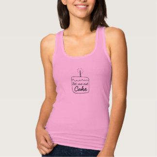 """Women's Pink """"Cake"""" Racerback Tank"""