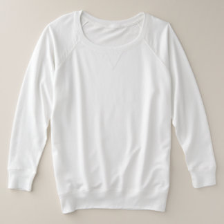 Women's Plus-Size French Terry Long Sleeve Shirt