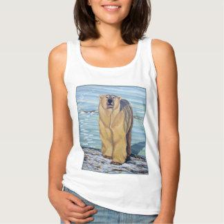 Women's Polar Bear Tank Top Polar Bear Art Shirts
