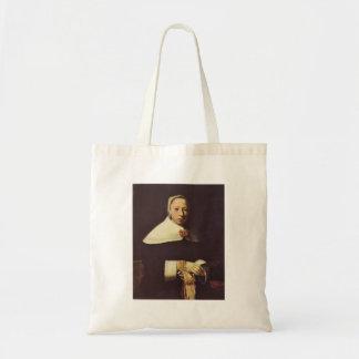 Women's portrait by Johannes Vermeer Canvas Bag