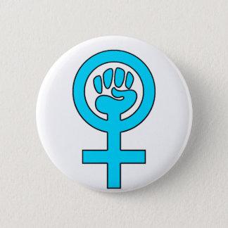 Women's Power Feminist Symbol Button
