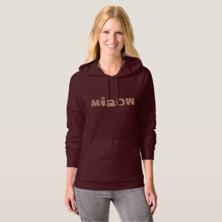 Women's pullover hoodie with 'miaow'