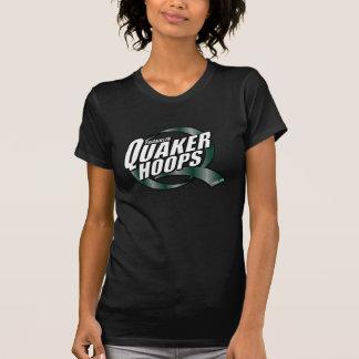 Womens Quaker Hoops Short Sleeve T Tshirts