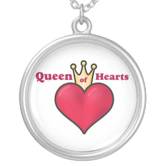 Womens Queen of Hearts Necklace