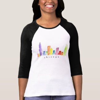 Women's Raglan Chicago Watercolor shirt