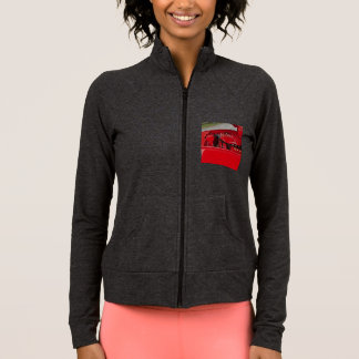 Women's red engine practice jacket