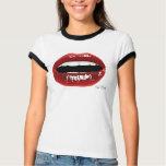 """Women's """"Red Lips"""" T Tee Shirt"""