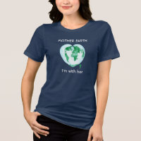 Womens Relaxed Fit Mother Earth Science March Tee