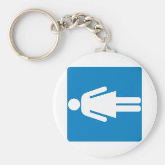 Women's Restroom Highway Sign Key Chain