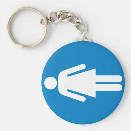 Women's Restroom Highway Sign Keychain