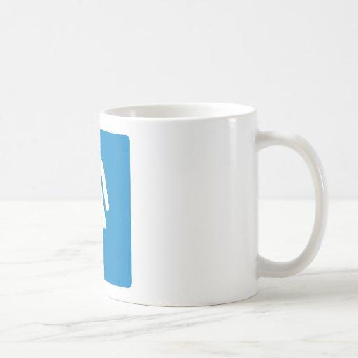 Women's Restroom Highway Sign Classic White Coffee Mug
