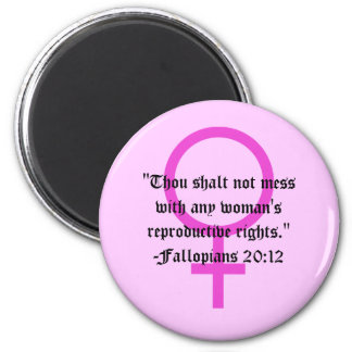 Women's Right to Choose Verse Magnet
