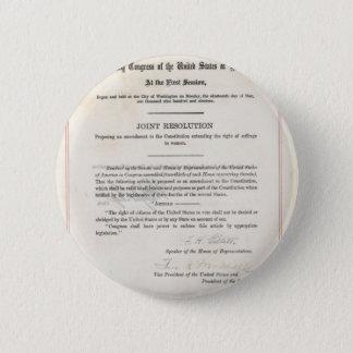 Women's Right to Vote- 19th Amendment Button
