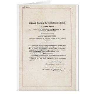 Women's Right to Vote- 19th Amendment Card