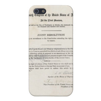 Women's Right to Vote- 19th Amendment Case For iPhone 5