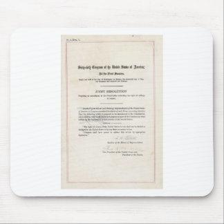 Women's Right to Vote- 19th Amendment Mouse Pad