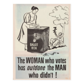 Women's Right To Vote - Vintage Postcard