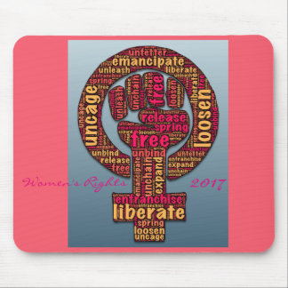 women's rights 2017 raised fist mouse pad