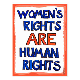 Women's rights are human rights postcard
