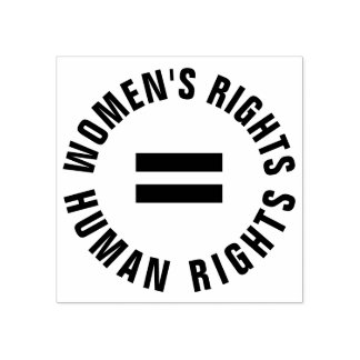 Women's Rights Equal Human Rights Feminist Rubber Stamp