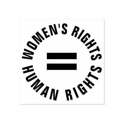 Womens Rights Equal Human Rights Feminist Rubber Stamp